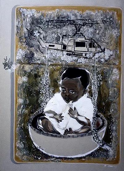 Tranh Bông dại của họa sĩ Lê Hào có giá khởi điểm