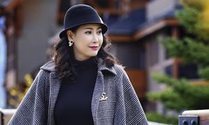 Hà Kiều Anh khám phá cảnh đẹp đầu thu Canada