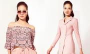 Trần Thị Quỳnh biến hóa với váy áo hồng pastel