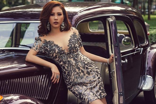 Hoa hậu Thu Hoài diện áo ngực xuyên thấu