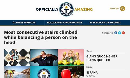 Tên Quốc Cơ Quốc Nghiệp xuất hiện trênwebsite của tổ chức kỷ lục Guinness.