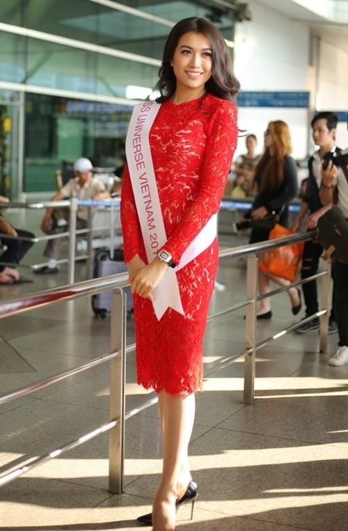 Lệ Hằng đem 200 kg hành lý đi Philippines thi Miss Universe