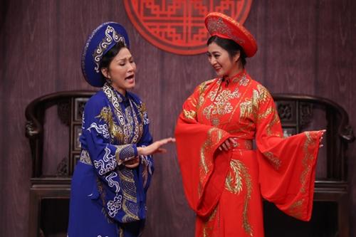 Diễn viên Thanh Trúc (phải) và nghệ sĩ Hồng Đào vào vai hai mẹ con cùng có quan hệ tình cảm với một người đàn ông. Tập cuối phát vào tối 11/2.