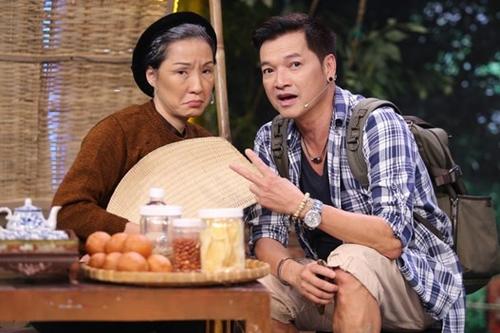 Hồng Đào, Quang Minh trong chương trình Hội ngộ danh hài.