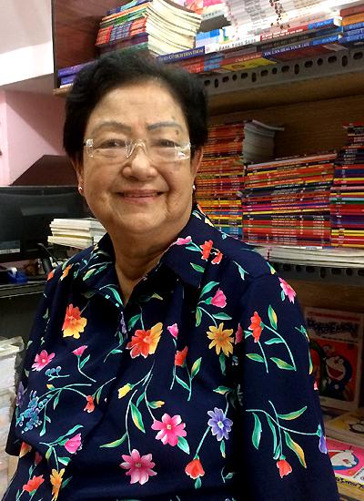 Bà Kha Thị Đàng - vợ của cố nhạc sĩ Châu Kỳ.