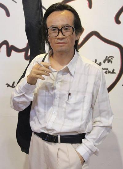 Bức tượng cố nhạc sĩ Trịnh Công Sơn tại Nhà trưng bày tượng sáp nghệ sĩ Việt.