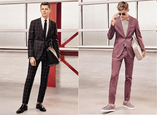 Họa tiết kẻ ô vuông hay gam màu pastel mang lại vẻ tươi mới cho các bộ suits mùa Xuân/Hè 2017 của BOSS
