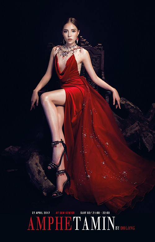 Hoa hậu Kỳ Duyên diện váy xẻ ngực của Đỗ Long