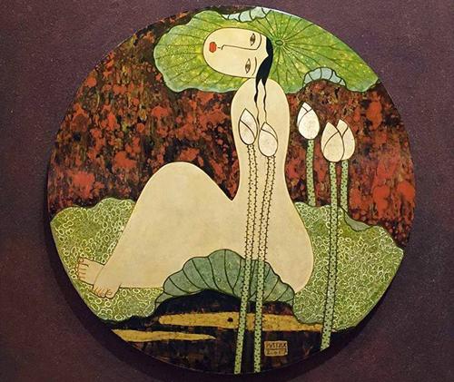 Tranh nude tôn vinh cơ thể phụ nữ