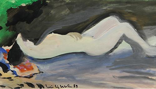 Nét phóng khoáng trong tranh nude của danh họa Lưu Công Nhân