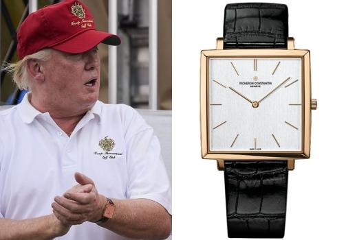Trong buổi lễ nhậm chức lịch sử, đương kim tổng thống Mỹ Donald Trump đã chọn chiếc đồng hồ Vacheron Constantin Historiques Ultra-Fine 1968. Bộ sưu tập Historiques của Vacheron Constantin được sinh ra nhằm tri ân những chiếc đồng hồ đã đi vào lịch sử của hãng.
