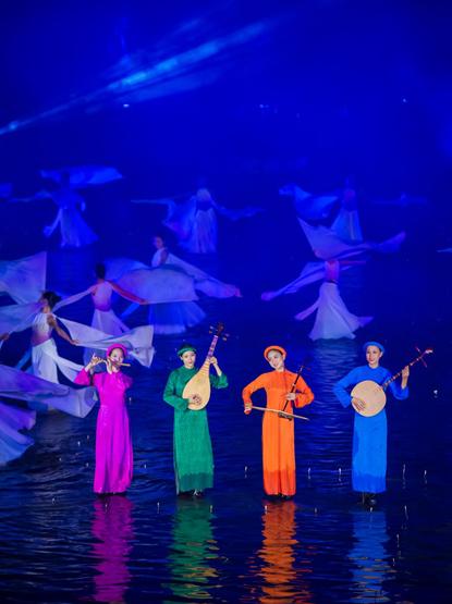 Không gian văn hóa Bắc bộ trên sân khấu nước 3.000 mét vuông