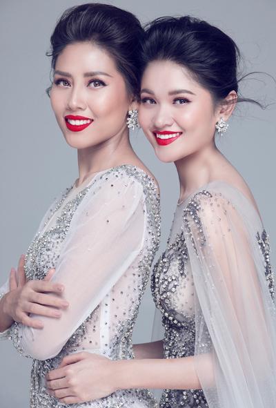 Nguyễn Thị Loan động viên Thùy Dung trước chung kết Miss International