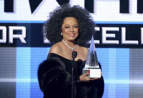 Diana Ross nhận giải 'Thành tựu trọn đời' tại AMAs