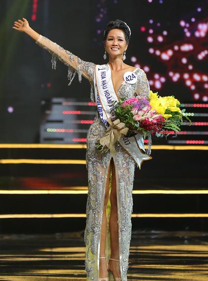 Hhen Niê khi đăng quang.
