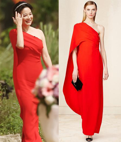 Cô diện thiết kế đỏ rực của Ralph Lauren dự một chương trình thực tế năm 2015.