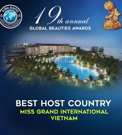 Việt Nam là quốc gia đăng cai hoa hậu tốt nhất 2017.
