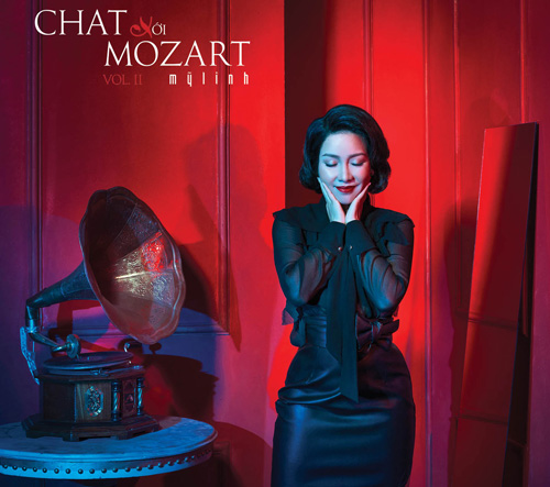 Bìa album Chát với Mozart 2 của Mỹ Linh.