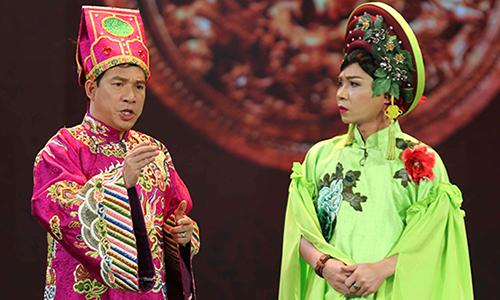Táo Kinh Tế - Quang Thắng và Cô Đẩu Công Lý (phải).