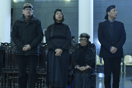 Gia đình nhạc sĩ Hoàng Vân trước giờ phát tang.