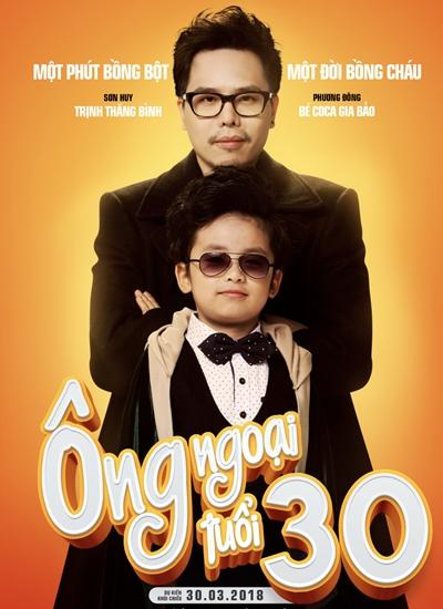 Tạo hình của Trịnh Thăng Bình và bé Gia Bảo (vai cháu ngoại)trong phim.