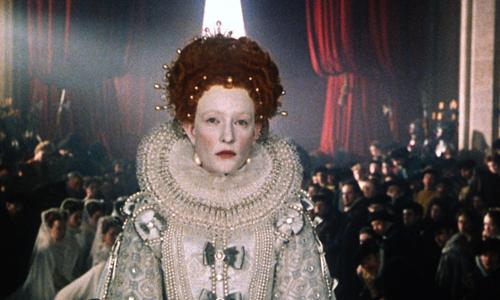 Nữ diễn viên Cate Blanchett thủ vai nữ hoàng Elizabeth đệ nhất.