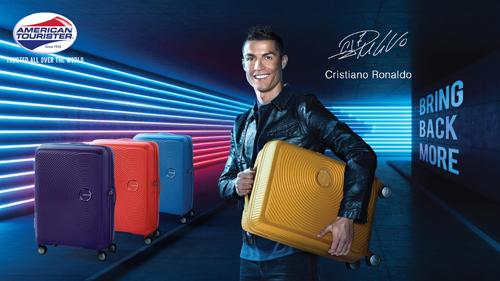 Cristiano Ronaldo làm đại sứ thương hiệu American Tourister 2018