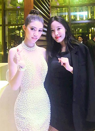 Jolie Nguyễn gặp Cổ Thiên Lạc ở Macau