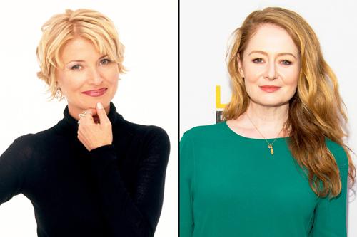 Beth Broderick (trái) đóng Zelda phiên bản cũ và Miranda Otto thay thế trong tác phẩm làm lại.