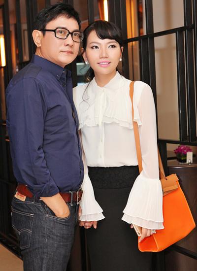 Diễn viên Hoàng Phúc và vợ - doanh nhân Uyên Phương.