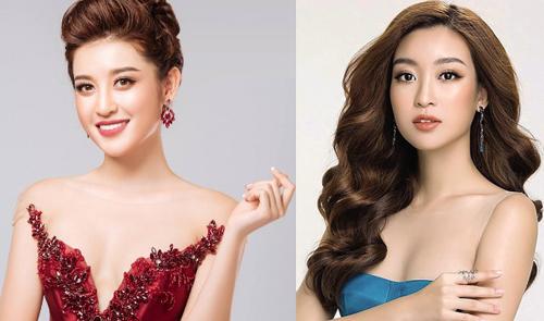 Huyền My (trái) và Mỹ Linh đều có mặt ở Top 64 Miss Grand Slam nhờ bình chọn của khán giả.