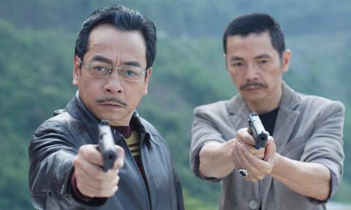 NSNS Hoàng Dũng (trái) và NSƯT Trung Anh trong phim.