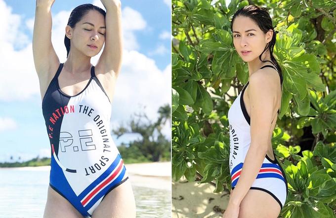 Dàn mỹ nhân châu Á tôn đường cong với áo tắm