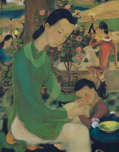 Bức La Family của Lê Phổ là tác phẩm đắt giá nhất của một hoạ sĩ Việt Nam từng được giao dịch.