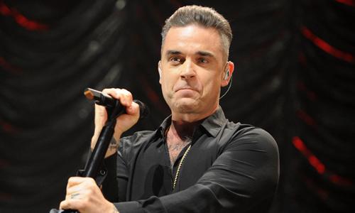 Ngôi sao nhạc Pop người Anh Robbie Willliams.