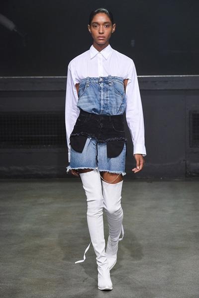 Váy jeans hai cạp của