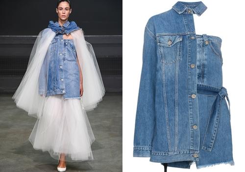 Váy jeans hai cạp của Ben Taverniti giá 28 triệu đồng - 1