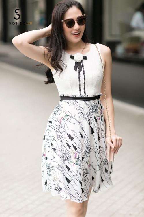 Tú Anh xuống phố với các trang phục của Sohee