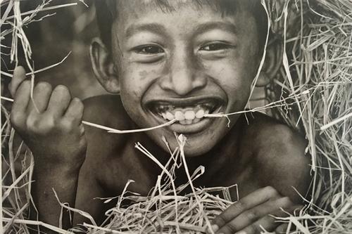 Bức ảnh chụp một em bé ở Ninh Thuận.