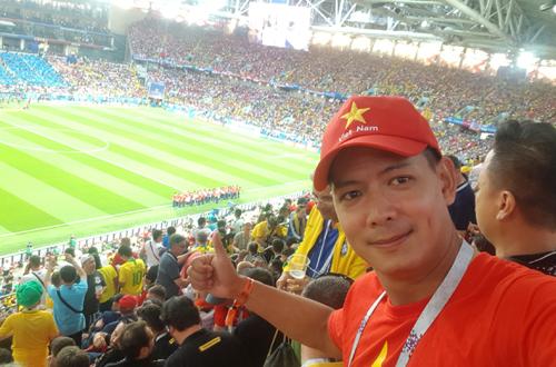 Binh Minh sang Nga xem World Cup