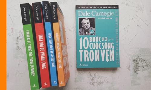 5 đầu sách mới ra của Dale Carnegie.