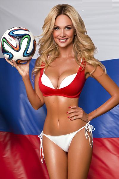 Hoa hau Nga gao thet khi doi nha vao tu ket World Cup