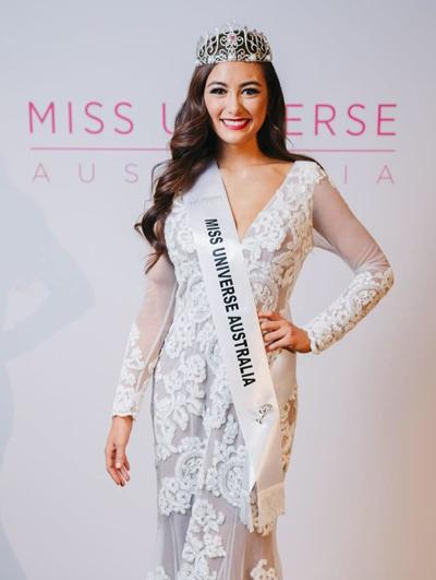Nhan sác co gái góc Trung Quóc dang quang Miss Universe Australia