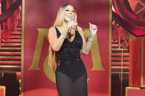 Mariah Carey lo hat nhep trong dem dien tro lai Las Vegas