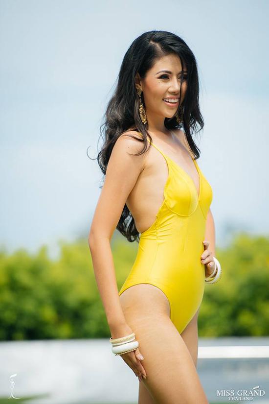 Thí sinh Hoa hậu Hòa bình Thái Lan trình diễn áo tắm