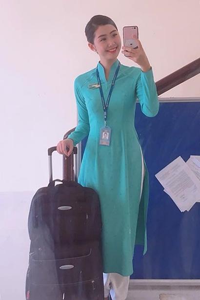 Hình thể ấn tượng của tiếp viên hàng không Vietnam Airlines thi Hoa hậu Việt Nam 5