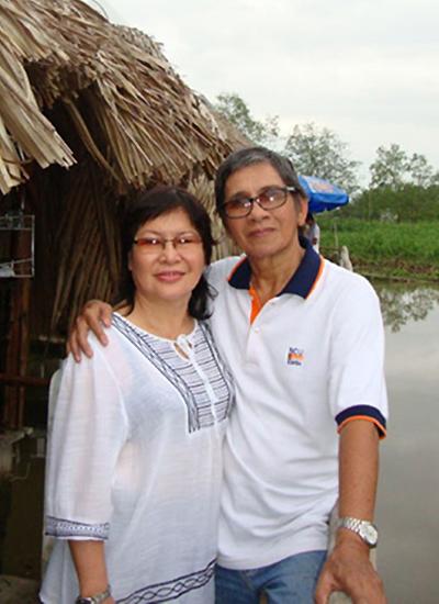 Vợ chồng NSƯT Phương Quang.