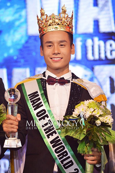Nguoi mau Viet 23 tuoi doat danh hieu Man Of The World
