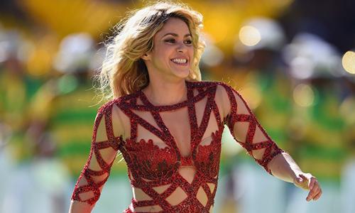 Shakira taị bế mạc World Cup 2014.
