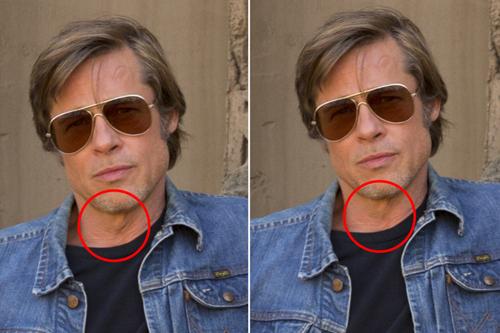 Brad Pitt và Leo DiCaprio lo anh photoshop